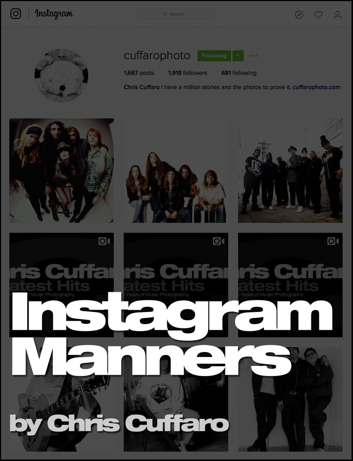 Instagram Manners